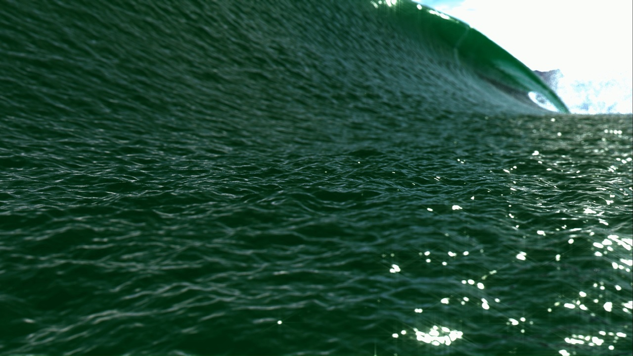 Breaking Wave Green